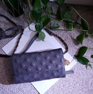 Quilted Zippered Clutch & Detachable Strap